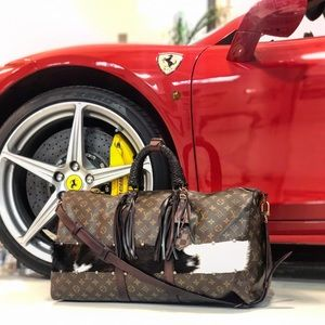 Auth Louis Vuitton Customized Bandouliere Keepall